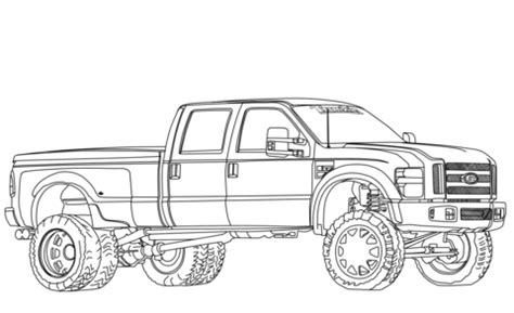 2012 ford f350 dually lifted coloring page | free