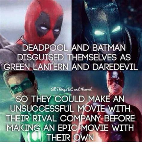 Batman Green Lantern Meme - deadpool and batman disguised themselves as green lantern