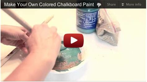 make your own chalk paint make your own custom colored chalk paint quick video