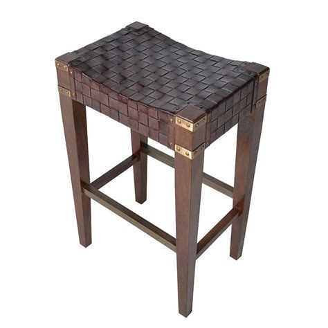 Woven Stools by Stools Woven Leather Bar Stool