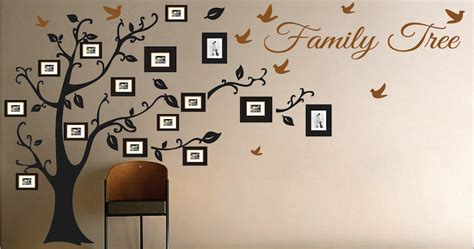 Baby Room Wall Decorations Stickers picture frame family tree wall art tree decals trendy