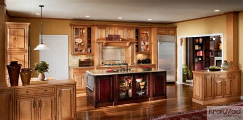 Maple Cabinet Kitchens by Kraftmaid Maple Raised Door In Praline With Mocha