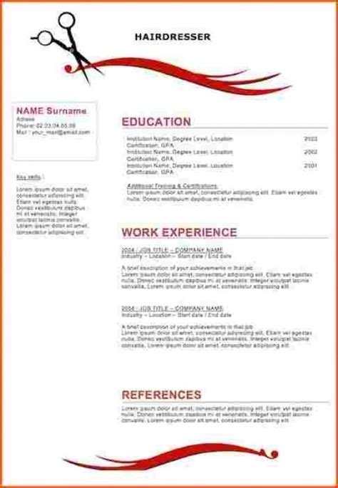 best resume for cosmetology 28 images free cosmetology