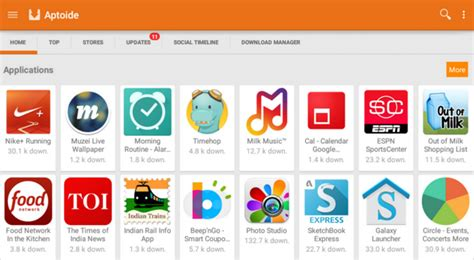 aptoide app store differences between play store and aptoide
