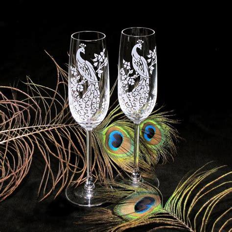 fine crystal peacock chagne glasses fine crystal bradgoodell