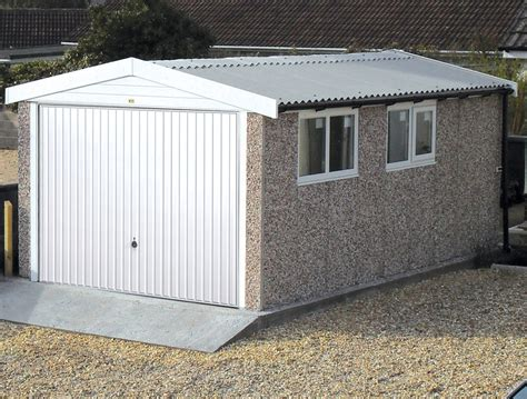 Concrete Garage Prices Uk by Apex Roof Garages For Sale Free Quote Lidget Compton