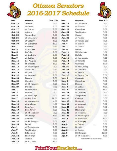 printable rangers schedule 86 best images about printable nhl schedules on pinterest