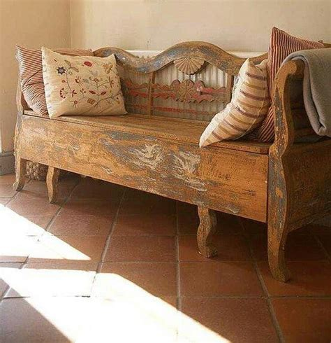 bench that turns into a bed old bed frames turned into bench furniture pinterest