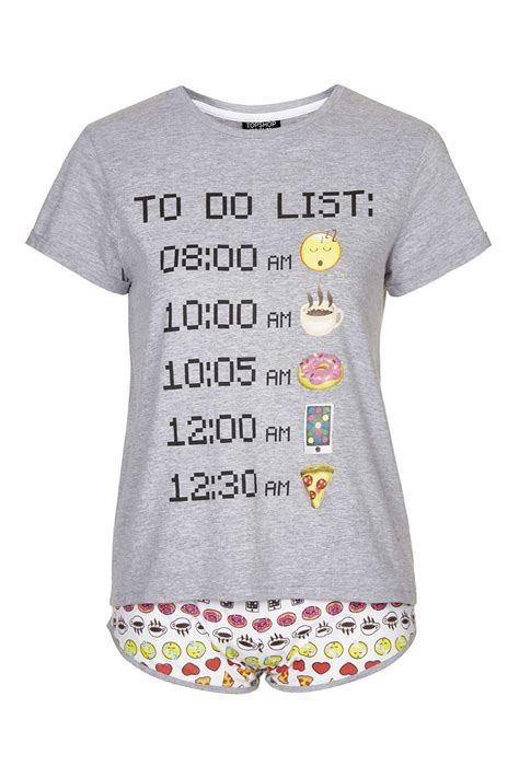 Marni Does Pyjamas Actually Day Clothes by Emoticons To Do List Pj Set Nightwear Clothing Emoji