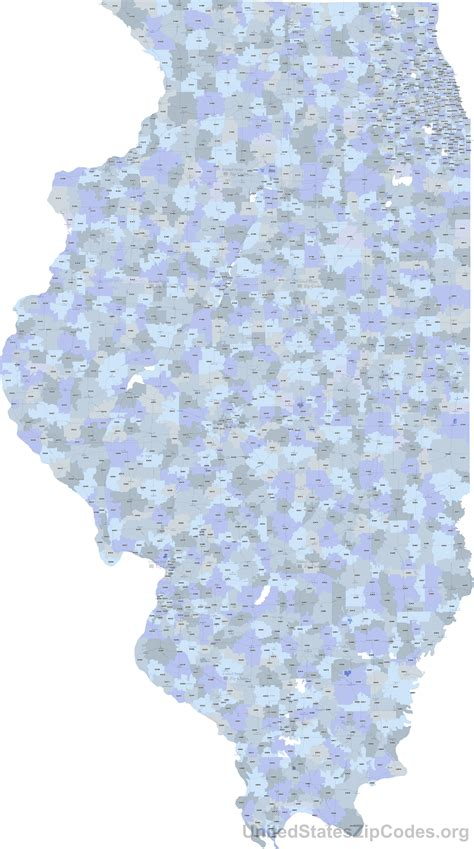 printable zip code map of illinois printable zip code maps free download
