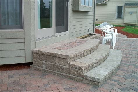 Paver Patio Steps Brick Doctor Bill Proper Paver Steps For Bay Windows Projects Bay Windows