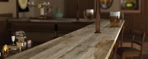 Bar top, that's right! Wood Porcelain planks on a counter