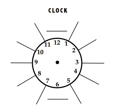 template clock vector sle clock 9 download in pdf psd eps vector
