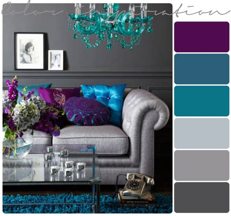 Color Schemes For Living Room by Purple Gray Turquoise And Purple On Pinterest