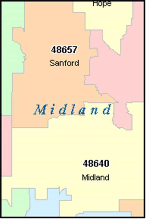midland texas zip code map midland county michigan digital zip code map