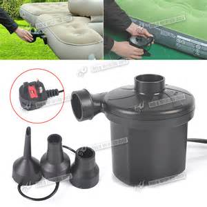 Mains Electric Air For Car Tyres 12v 240v Electric Air Mains Uk Foot Air Bed