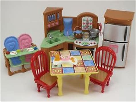 loving family kitchen furniture fisher price loving family dollhouse furniture corner kitchen sounds table chair