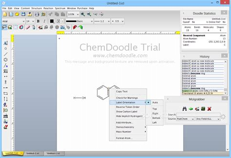 how to use chemdoodle chemdoodle