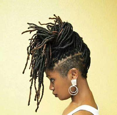 styles for locks on top of head short dreadlock styles for black women black hairstyles