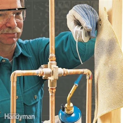How To Solder Plumbing Copper Pipe by How To Sweat Copper Pipe The Family Handyman