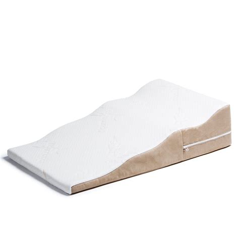 contoured acid reflux bed wedge support pillow with bamboo