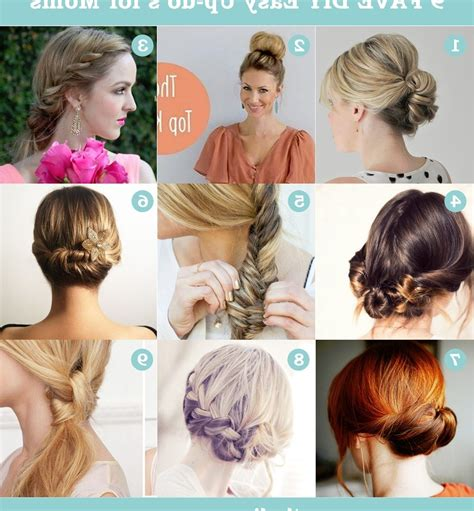 Diy Updo Hairstyles by 15 Photo Of Easy Diy Updos For Medium Length Hair