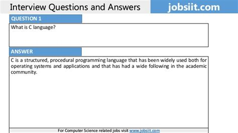 c tutorial questions answers top 80 c language interview questions and answers