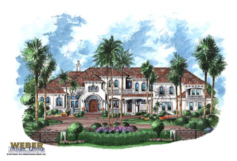 tuscan house plan luxury 10 000 sq ft 2 story mansion