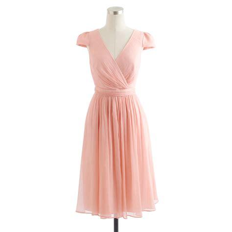 Dress Mirabelle j crew mirabelle dress in silk chiffon in pink lyst