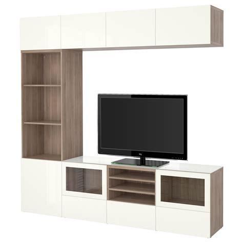 besta gloss white ikea best 197 tv storage combination glass doors walnut