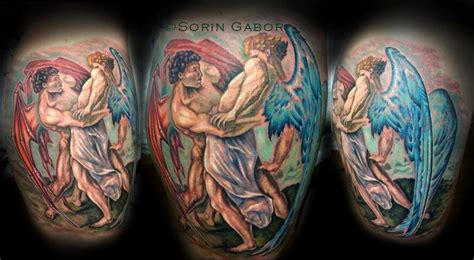 sorin gabor at sugar city tattoo tattoos evil color
