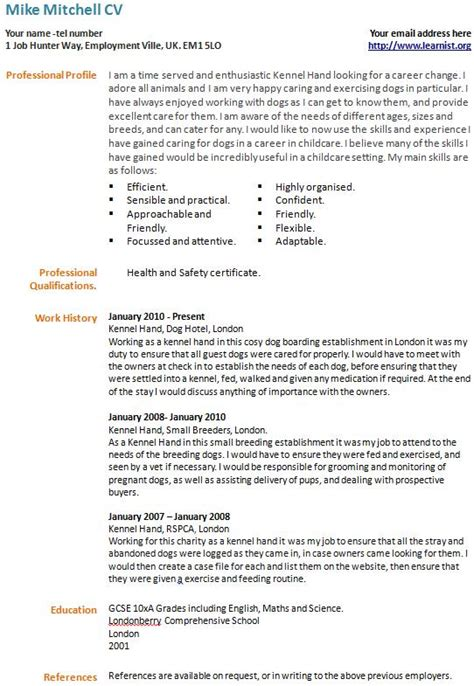 career change resume sles sle resumes for a career