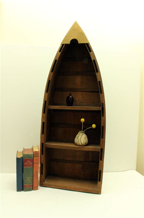 vintage boat bookcase shelving unit boat display