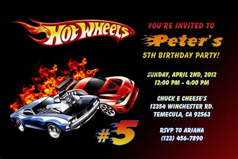 printable birthday cards hot wheels hot wheels birthday party invitations drevio invitations