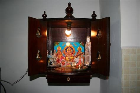 wall mounted pooja cabinet pooja room designs in glass