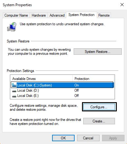 fix restore point not working in windows 10 troubleshooter
