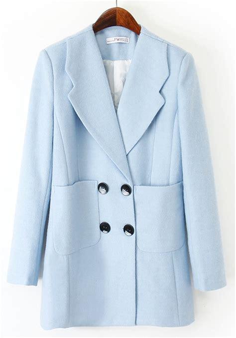 light blue wool coat light blue wool coat jacketin