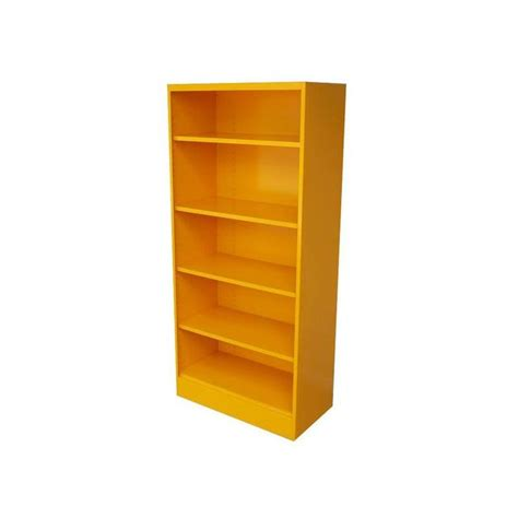 orange vintage metal bookcase 1970 s