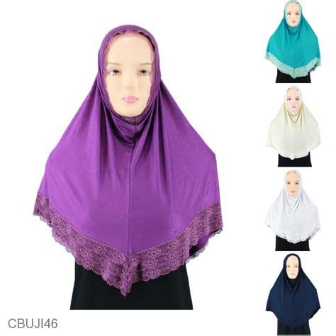 jilbab siria kaos non pet renda jilbab pashmina murah batikunik