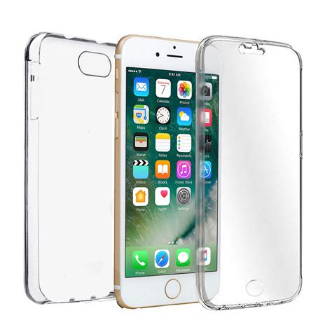 Tpu 360 For Iphone 7 clear 360 176 tpu soft protective cover for iphone 6 6s 7 8 8 plus x ebay