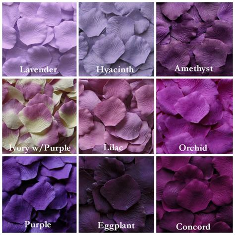 shades of dark purple purple rose petals in 14 shades purple silk rose petals fake