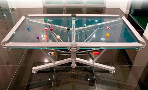 transparent glass pool table by nottage design g 1