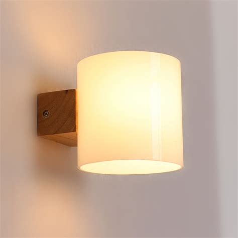 Aliexpress Com Buy Simple Modern Solid Wood Sconce Led Wall Lighting Bedroom