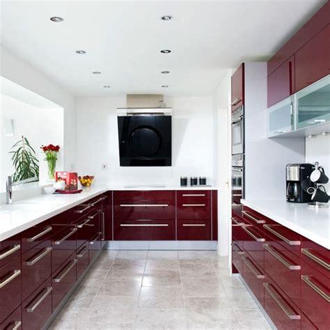 Burgundy Kitchen by Modern Burgundy Kitchen Tour Housetohome Co Uk