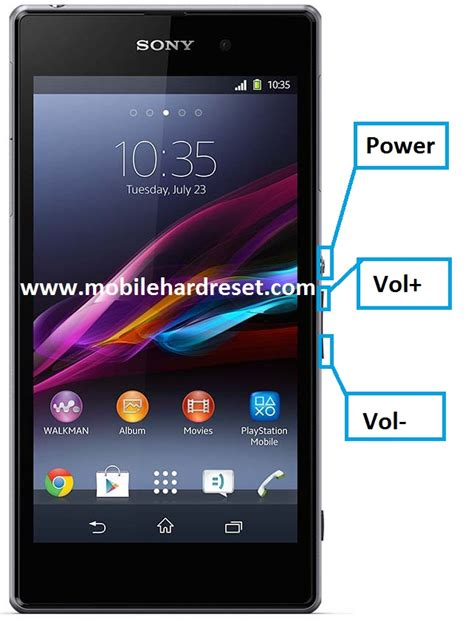format factory z2 how to hard reset sony xperia z