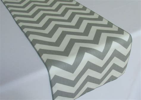etsy chevron table grey and white chevron table runner select a size more