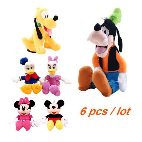 Set Hello 6 Pcs 6pcs set 30cm mickey and minnie mouse donald duck and