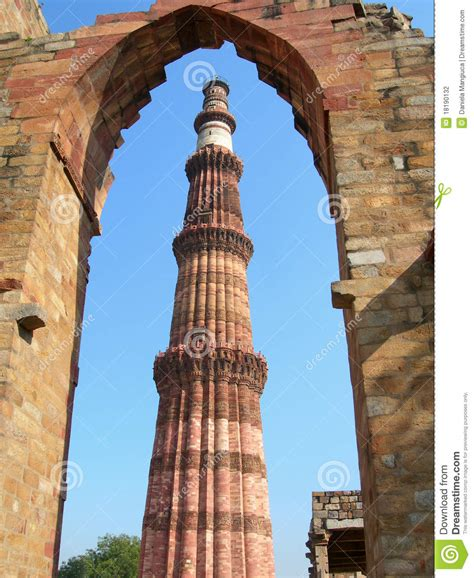 qutub minar monument   delhi india stock photography