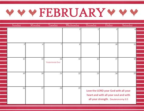 february calendar template the blogging pastors printable calendars for