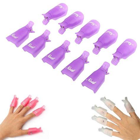 nail clip 10pc plastic nail soak cap clip uv gel